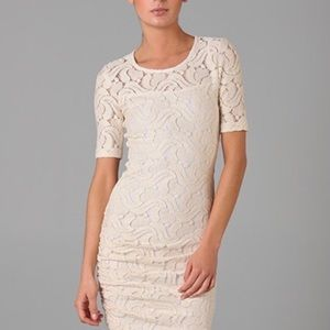 ALC Ivory Lace Wiggle Dress